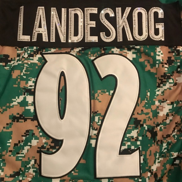 9fc793c2ab8 ... buy ccm other colorado avalanche landeskog 92 bling jersey beccc fc8fb